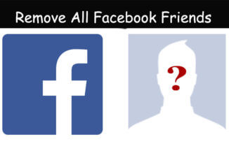 How To Unfriend All Friends In Single Click On Facebook